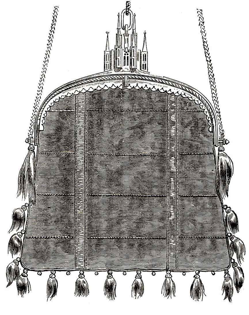an illustration of a 1400s royal woman's purse
