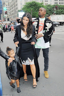 Kim K, Kanye West and North West step out for movie time