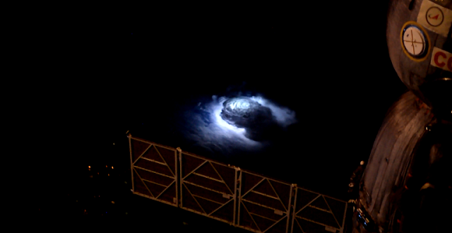 Thunderstorm seen from Space Station. Credit: ESA/NASA