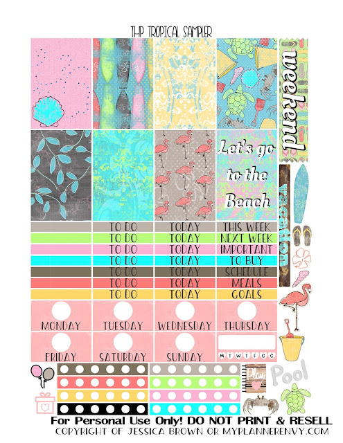 Free Printable Tropical Sampler for the Classic Happy Planner from myplannerenvy.com