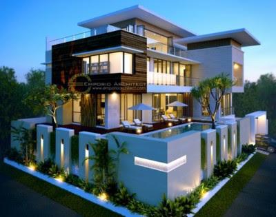 Tampak Depan Rumah Minimalis 2 Lantai mewah