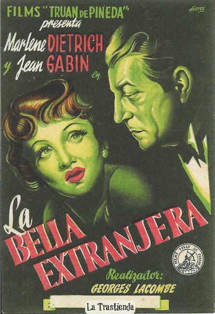 Programa de Cine - La Bella Extranjera - Marlene Dietrich - Jean Gabin