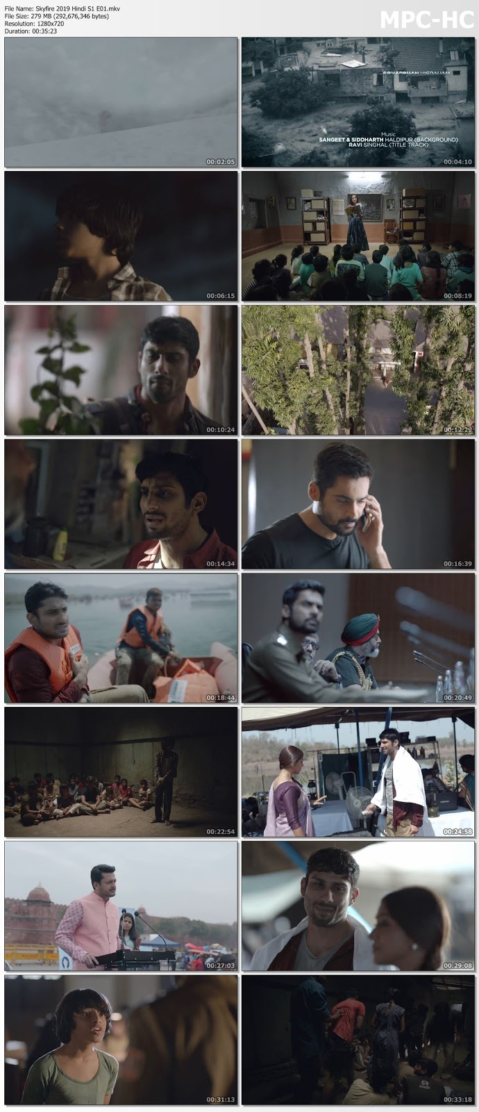 Screen Shoot of Skyfire 2019 Hindi S01 WEB Series Complete 480p WEB-DL 850MB