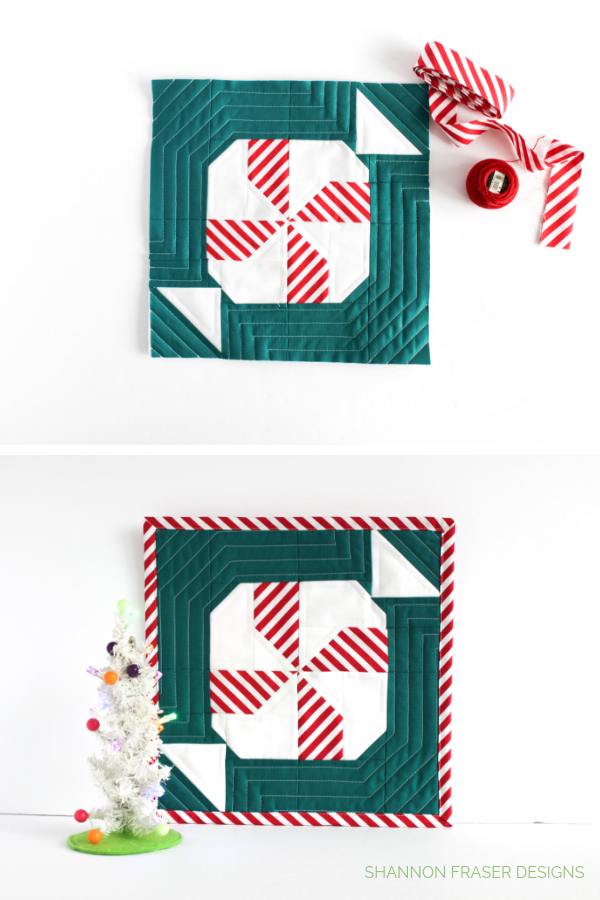 Holiday Crafts | Quilted Mint Sweet Block | Love Patchwork & Quiltling #gingerbreadQAL | Shannon Fraser Designs