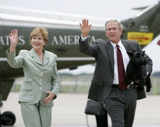 Image result for bush family and barney