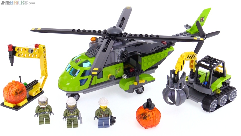 LEGO City Volcano Supply Helicopter review! 60123