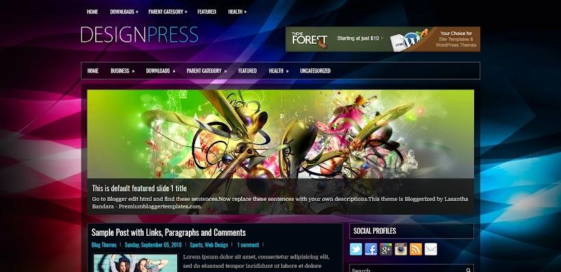 DesignPress Free Blogger Template