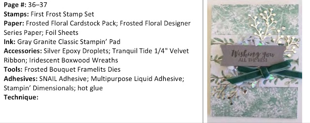 Stampin' Up! First Frost and Frosted Bouquet Bundle Card Ideas from 2018 Autumn/Winter Catalogue