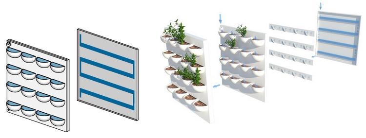 Pared verde for Materiales para un muro verde