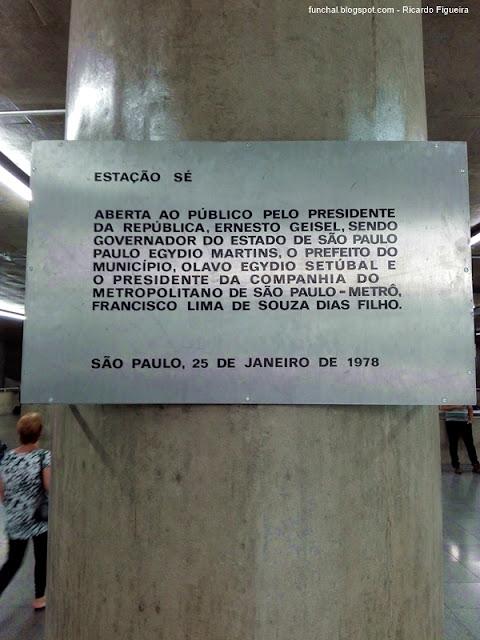 ESTAÇÃO DA SÉ - SÃO PAULO - BRASIL