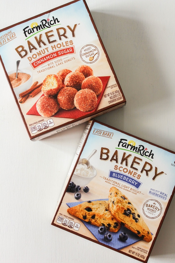 Change up your morning ritual by surprising the family with a delicious breakfast treat!  With the new Farm Rich Bakery items, you can enjoy donuts, scones, french toast sticks and more in just minutes!