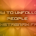 Unfollow On Instagram