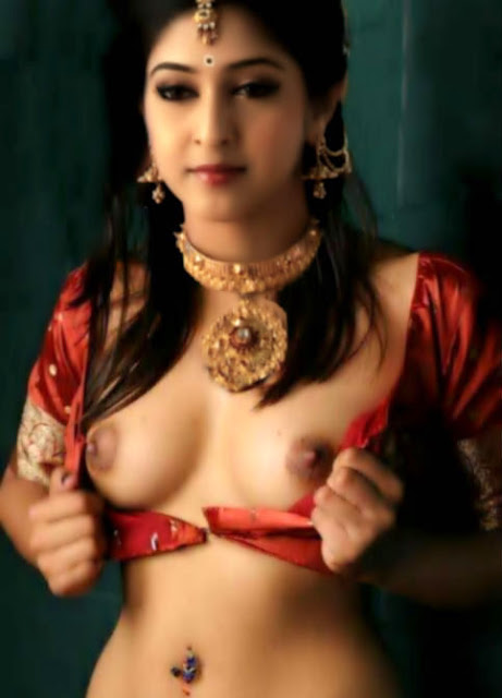 Sexy nude nipple Sonarika Bhadoria removing her blouse without bra