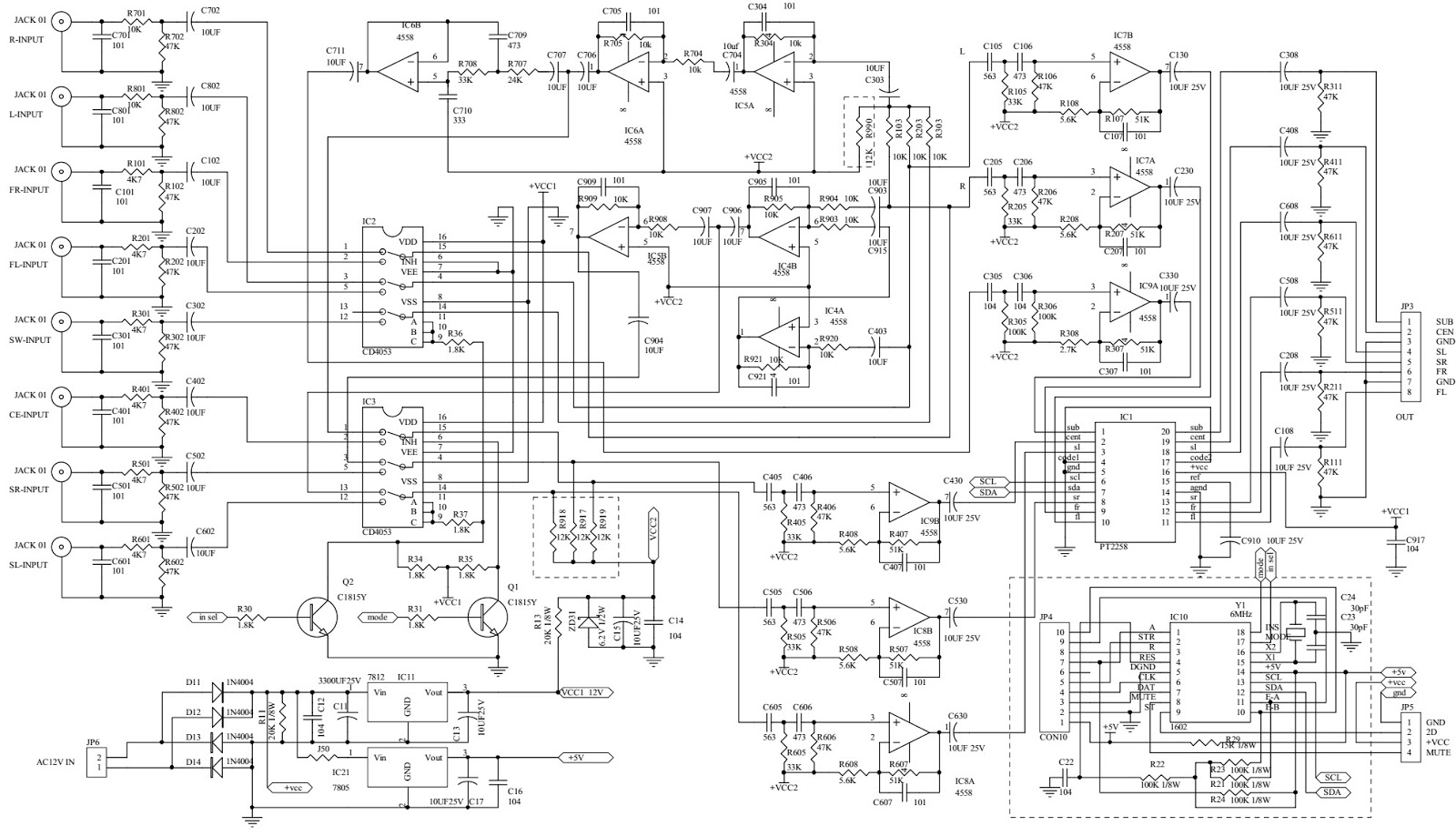 5 1 Channel Home Theater Circuit Diagram Allen Bradley Typical Wiring Diagrams Electro Help Microlab X5 Multimedia Speaker