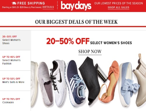 Hudson's Bay Bay Days Lowest Prices of the Season