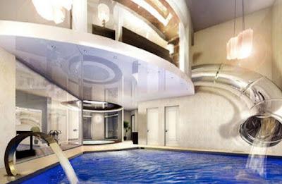 Slide and pool