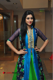 Actress Model Shamili Sounderajan Pos in Desginer Long Dress at Khwaaish Designer Exhibition Curtain Raiser  0043.JPG