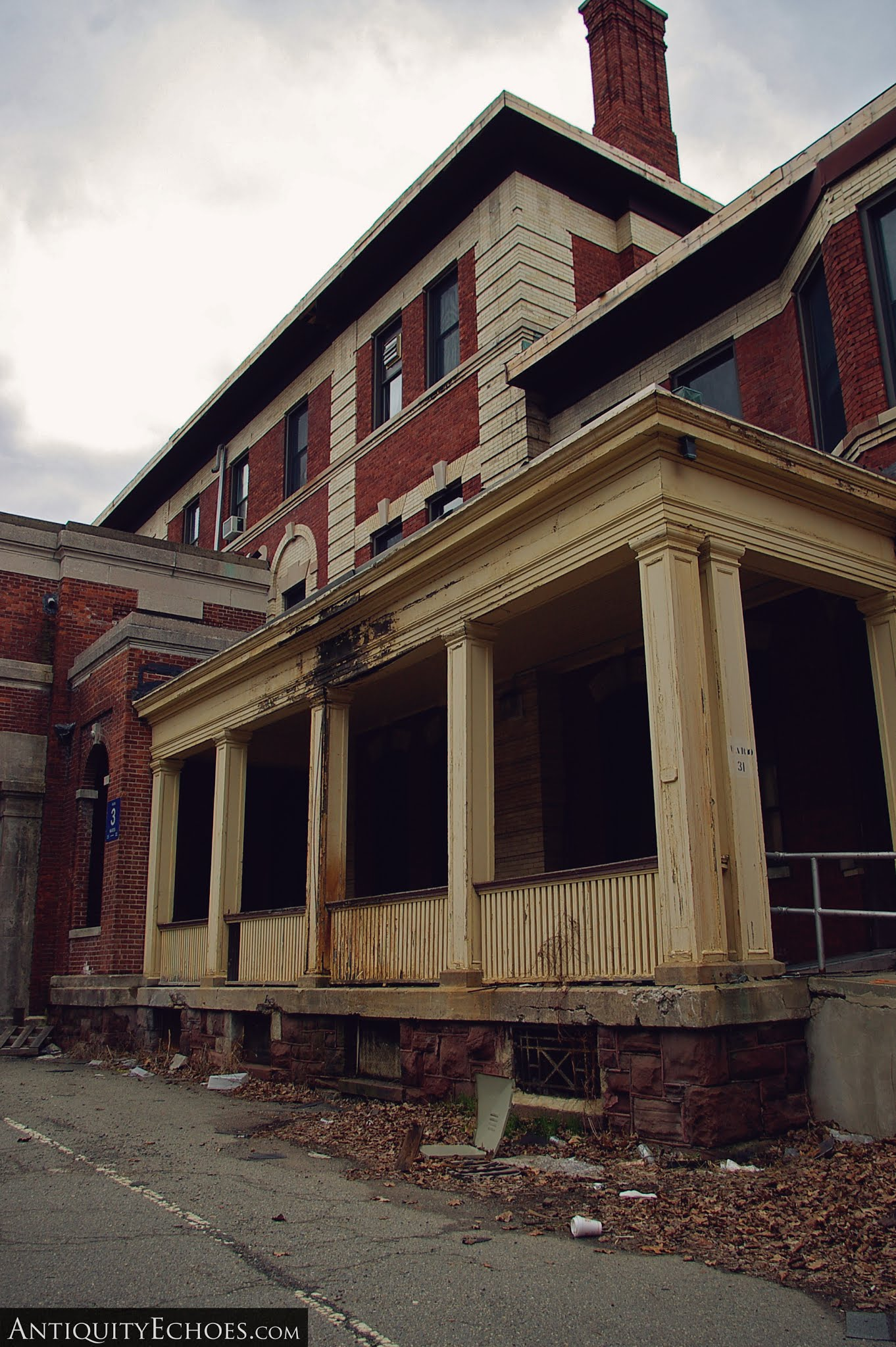 Overbrook Asylum - Columned Porch
