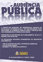 Audiência Pública para renovação do Conselho da Cidade em Teresópolis