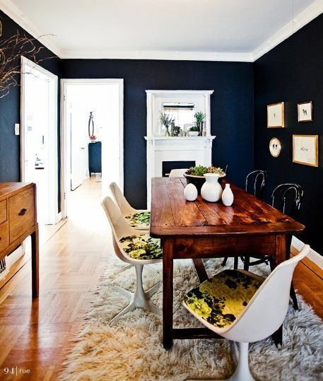 Dark Dining Room: Auction Decorating: Mix It Modern! Dining Chairs