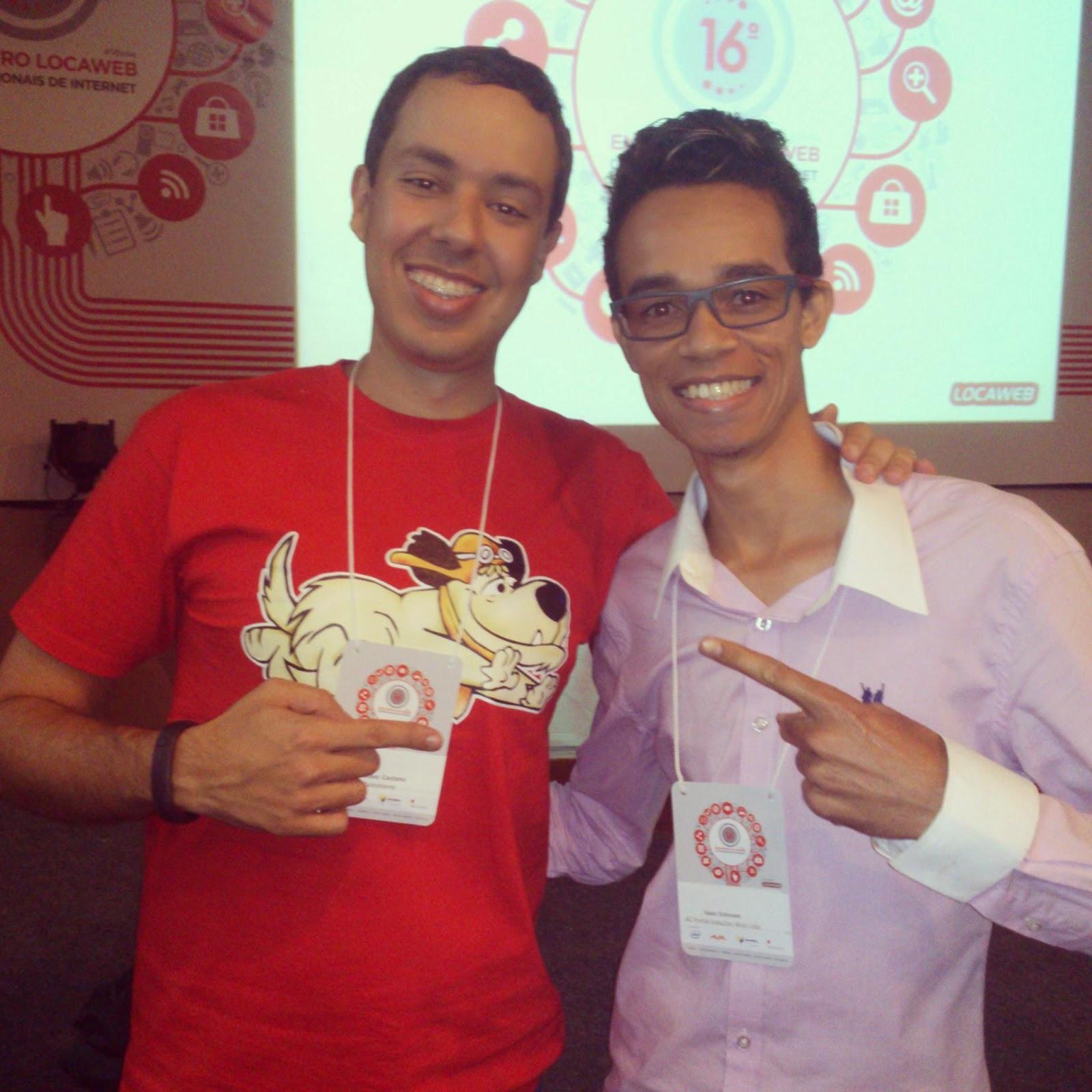 Gustavo Caetano e Webisaac no 16° Encontro de Profissionais da Internet
