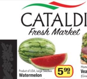 Cataldi Fresh Market Weekly Flyer April 18 – 24, 2018