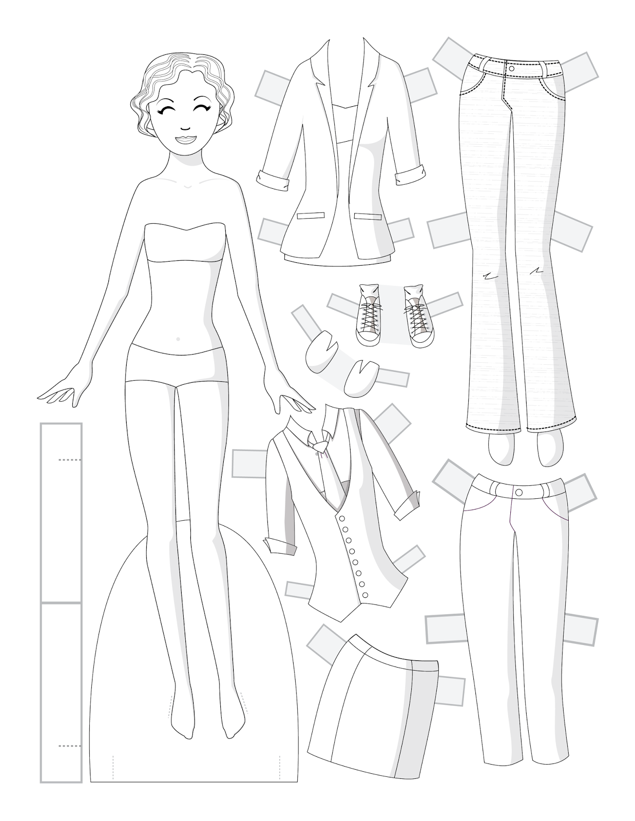 Pigs paper dolls 2 / Pigs / Kids printables coloring pages