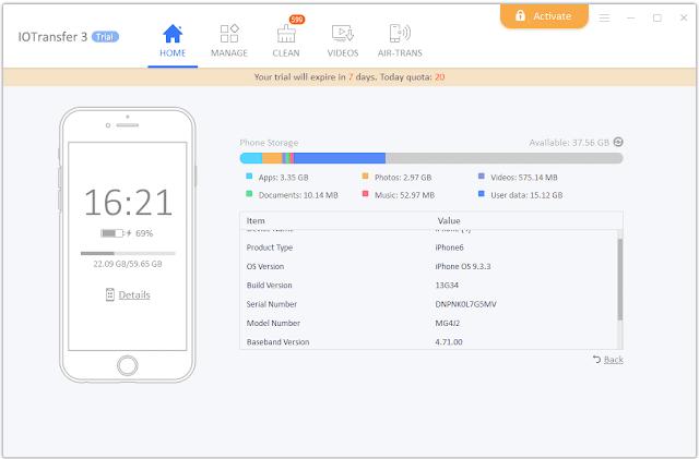 ادارة هواتف iPhone و iPad باستخدام برنامج IOTransfer 3 بديل iTunes