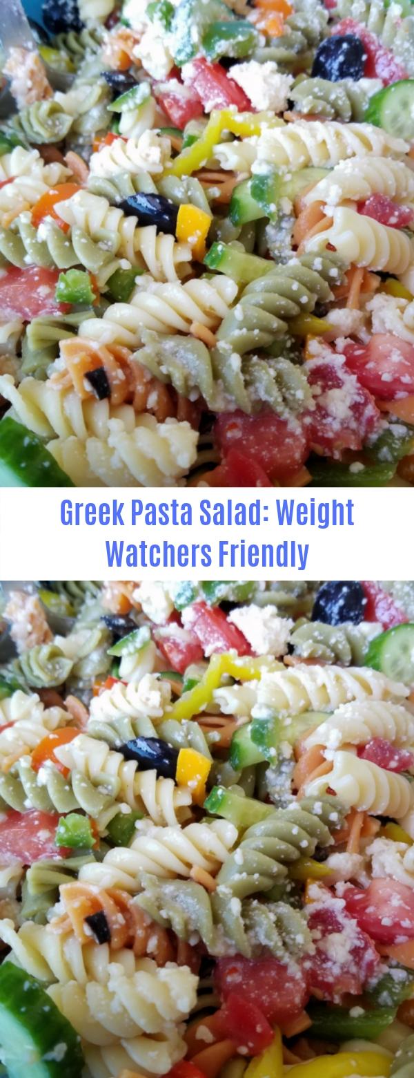 Greek Pasta Salad: Weight Watchers Friendly
