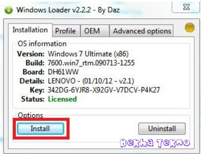 Windows Loader by DAZ v2.2.2 + WAT Fix new