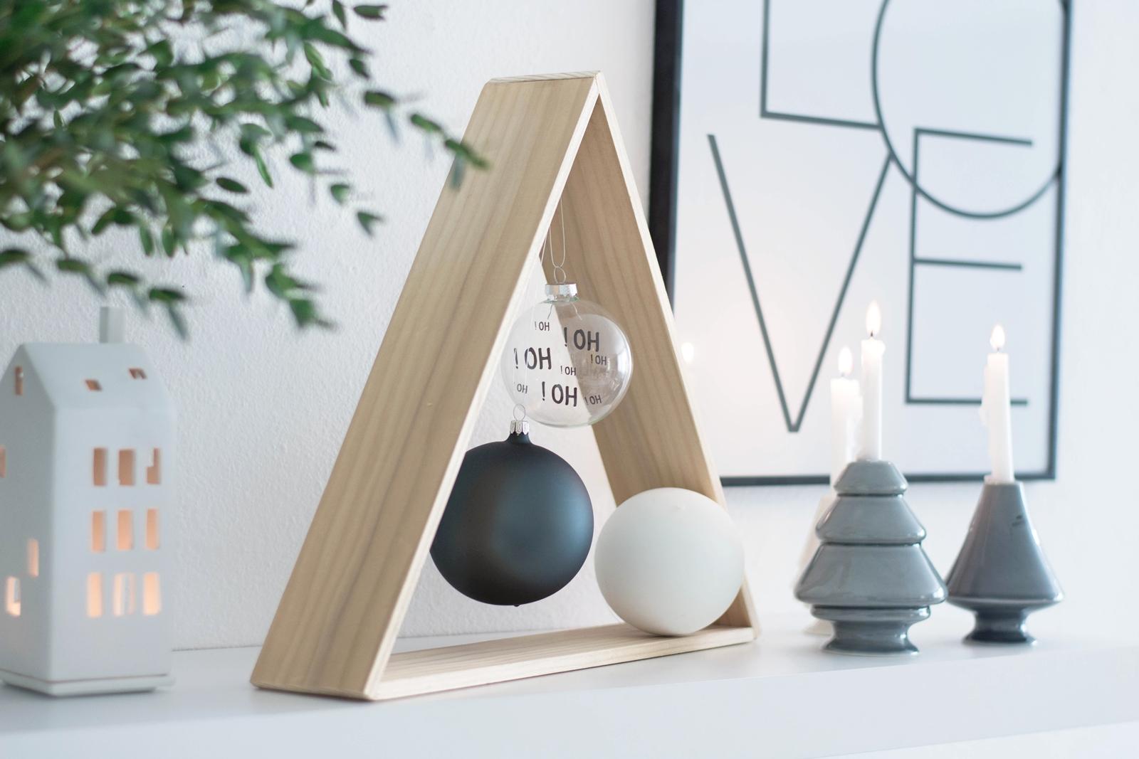 DIY Tannenbaum aus Holz für Minimalisten