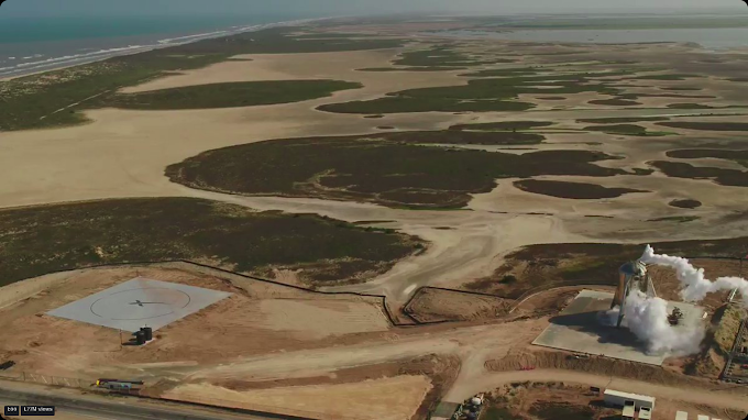 SpaceX -Starhopper flight test drone footage