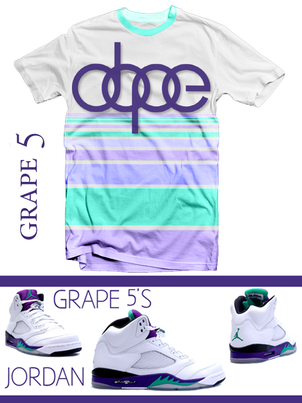 430cc70df4b T-Shirts for the Jordan Retro 5 Grape Shoes : Sneaker Tees | Jordan ...