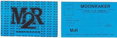 Kartu Tanda Anggota Moonraker Sport Club Bandung Tahun 1980