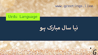 Happy New Year in Urdu Language نیا سال مبارک ہو