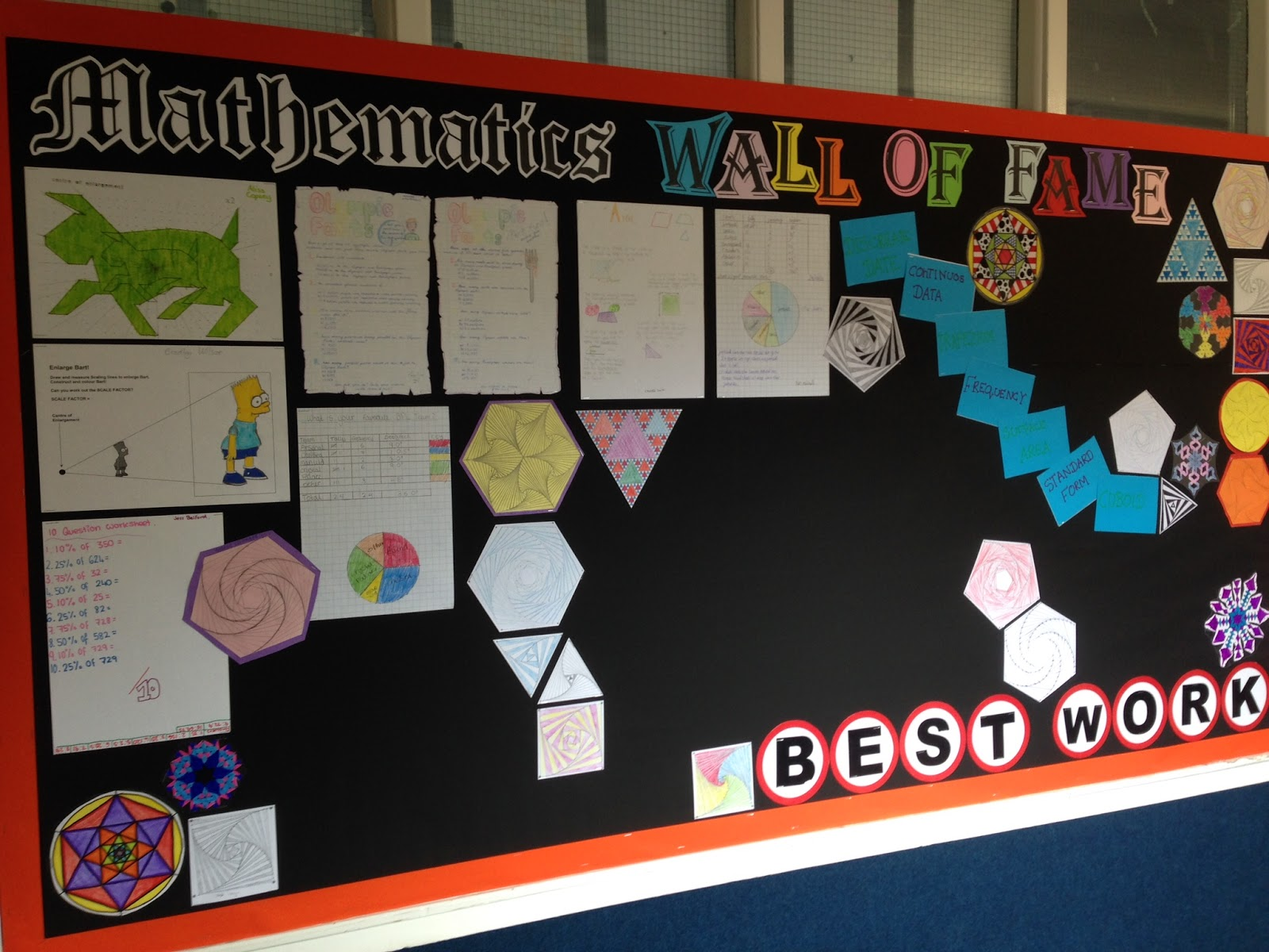 Classroom Display Ideas Ks4 : Mr collins mathematics venturing into the office