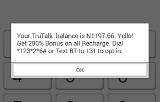 mtn truetalk account balance