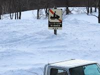 スノーモービル規制の看板
