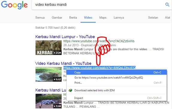 Melihat Langsung URL Youtube yang ada di Bawah Judul Video