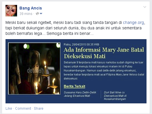Mary Jane Batal Dieksekusi