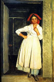 Иванов Александр Андреевич Девушка из Албано, стоящая в дверях