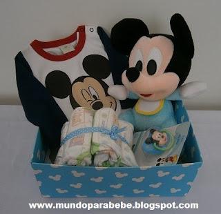 Cajita regalo mickey bebé
