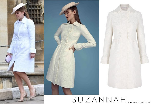 Princess Beatrice wore Suzannah Versaille Coat Dress