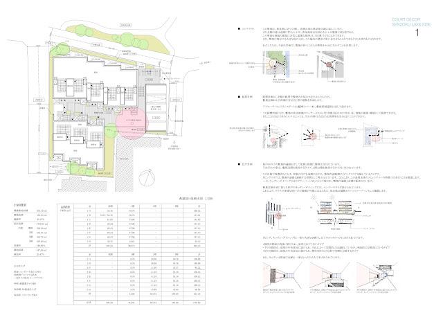 桜の木のある都市型集合住宅 配置計画・考え方
