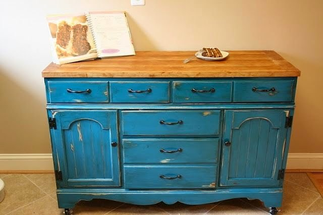 Kitchen Island Made From A Dresser dishfunctional designs: upcycled: awesome kitchen islands made