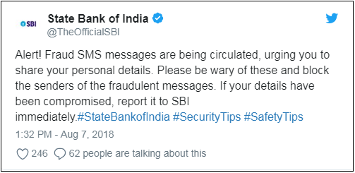 SBI SMS ON TWITTER