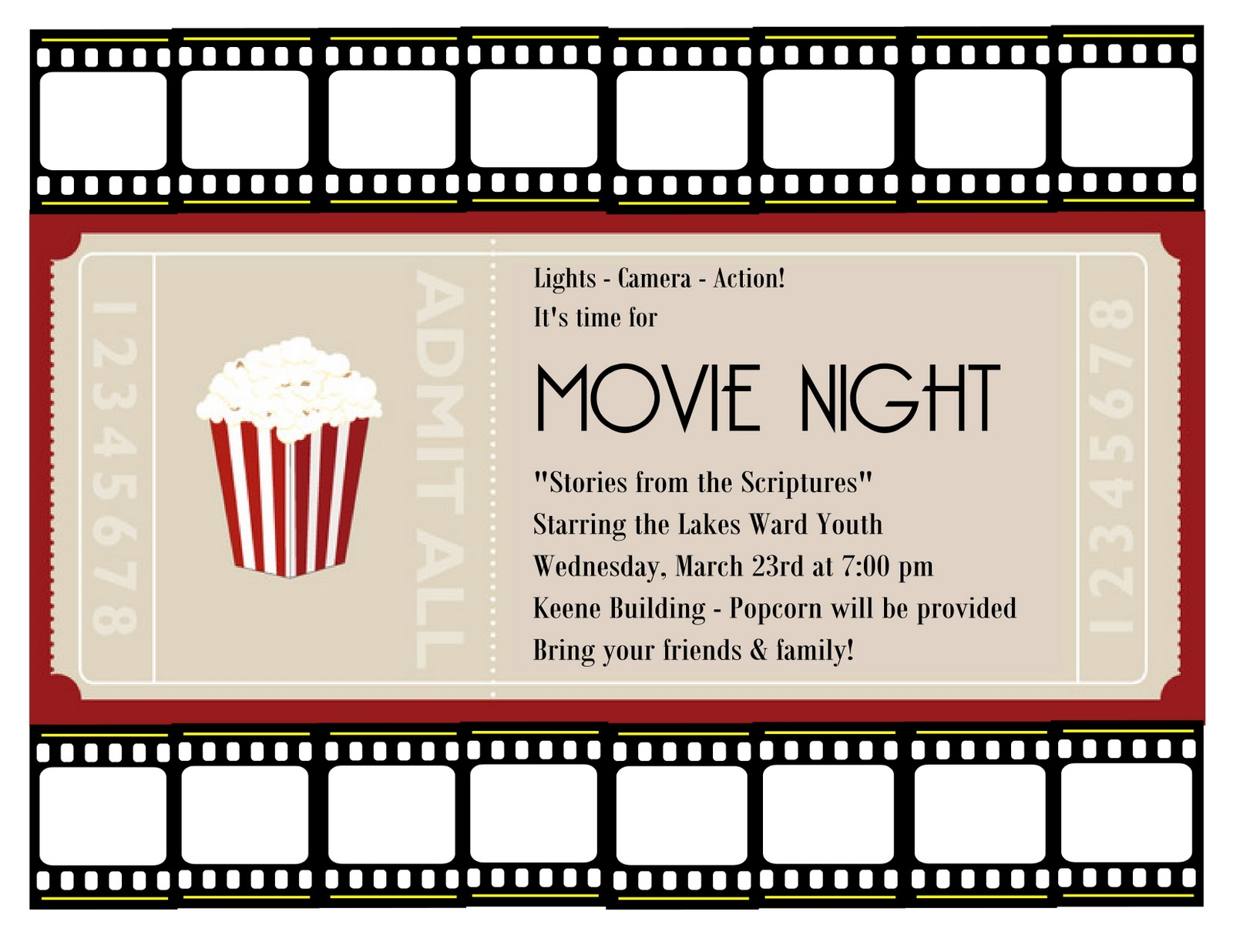 Free Birthday Invitation Clipart additionally Movie Night as well Friday Night Movie Whos Your Favorite Leading Lady as well Movie Pass moreover Viewing party. on movie night ticket invitation