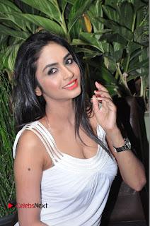 Actress Model Pooja Sri Stills in White Short Dress at F Club pre soft Launch  0177.JPG