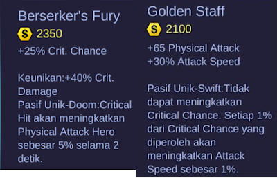 Berserker's Fury and Golden Staff Mobile Legends