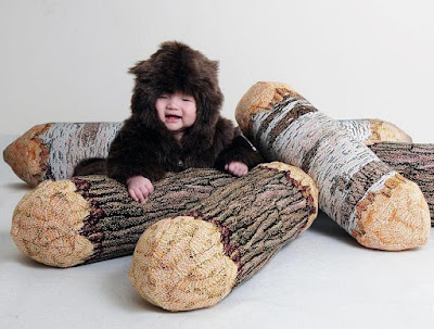 Tree Log Bolster Pillow